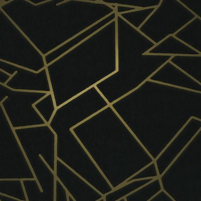 Angles Wallpaper Black and Gold