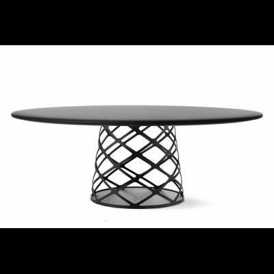 Aoyama Coffee Table Gubi Metal White, 120 x 46 cm, Gubi Black Soft Coating