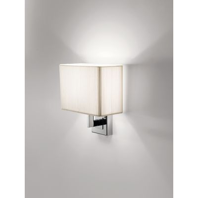 AP Clav BR Wall Light White, Chrome