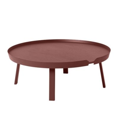 Around Extra Large Coffee Table Dark Red
