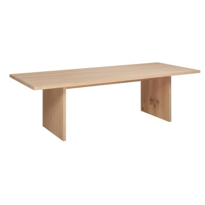 Ashida table European Oak, White pigmented, Waxed, 330, 65.5, 110