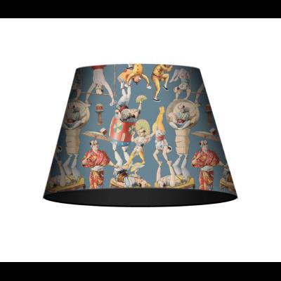 Asian Circus Blue Cone Table/Floor Shade