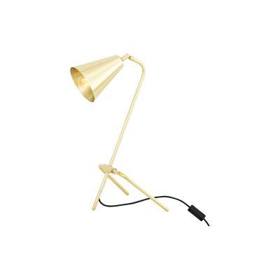 Astana Table Lamp Satin Brass, UL Plug