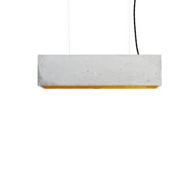 [B4] Pendant Light Light Grey Concrete, Gold Plating