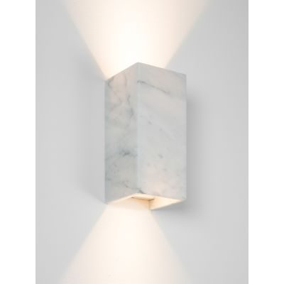 [B8] CARRARA - Wall Light Rectangular Marble, 24-karat gold inside plating
