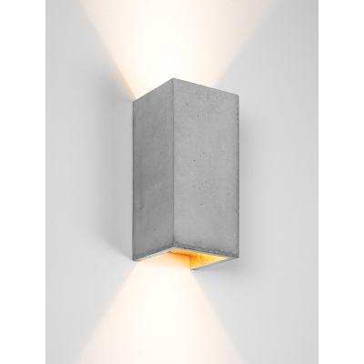 [B8] Wall Light Rectangular Light Grey Concrete, Gold Plating