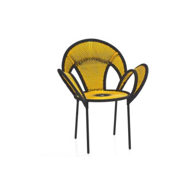 Banjooli Armchair Black / Yellow