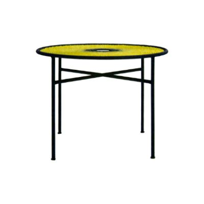 Banjooli Round Table Black / Yellow, Large