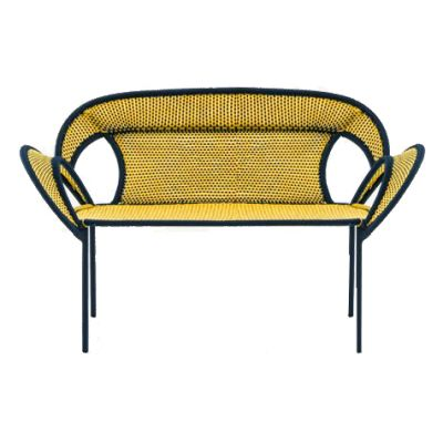 Banjooli Sofa Black / Yellow