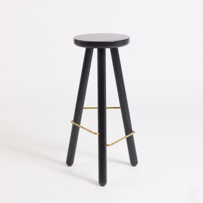 Bar Stool One Black, 76 cm Height