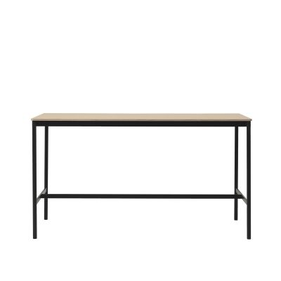 Base High Table 190 190 x 85, 105, Black/Oak Veneer/Plywood