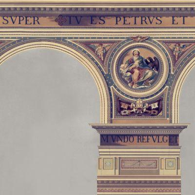 Basilique Brass Wallpaper