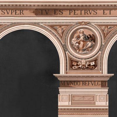 Basilique Copper Wallpaper