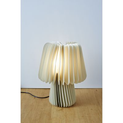 Beam Table Lamp  Pale Grey & China White