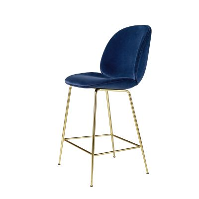 Beetle Counter Chair - Fully Upholstered Noir Black – 31320, Frame Matt Black, Matching Fabric