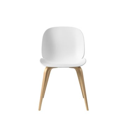Beetle Dining Chair - Wood Base Plastic Blue Grey, Gubi Wood American Walnut