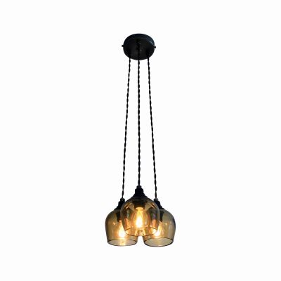 Bell 3-Drop Pendant Light Honey, 8.5cm