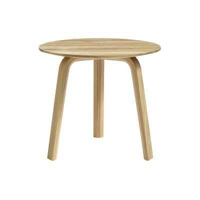 Bella Side Table Matt Lacquered Oak, 49cm