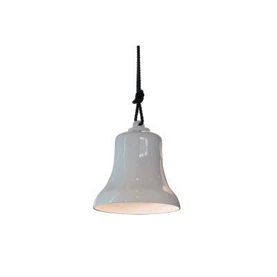 Belle Pendant Lamp Gloss Grey Mud Ceramic/Gloss Ivory lining, 45