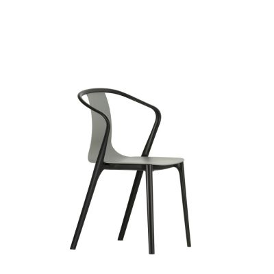 Belleville Armchair with Plastic Shell 12 Deep black
