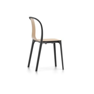 Belleville Chair with Wood Shell 10 Natural oak with protective vanish
