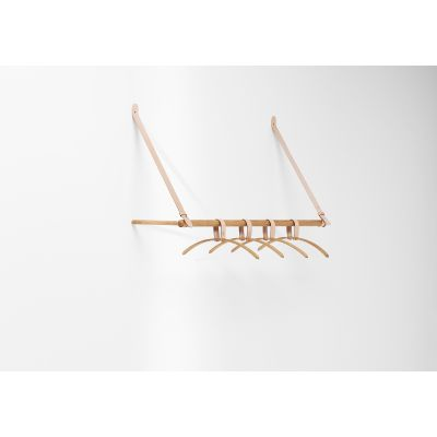 Belt Hanging Rack Oak