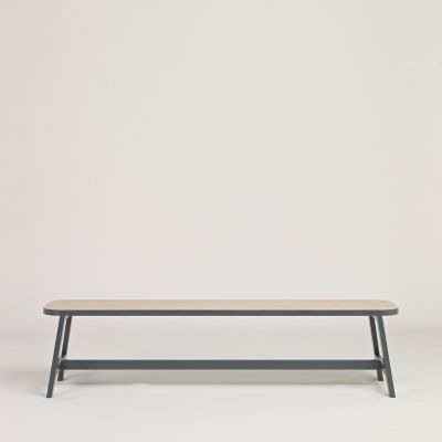 Bench Three Beech, Chamberlayne Grey, 140 cm