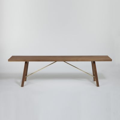 Bench Two Walnut, 200 cm