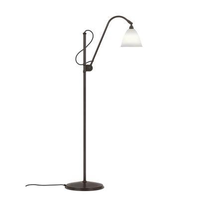 Bestlite BL3 Floor Lamp - Small Bone China / Black Brass