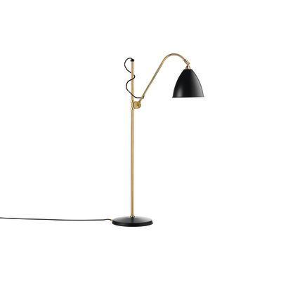 Bestlite BL3M Floor Lamp Charcoal Black and Brass
