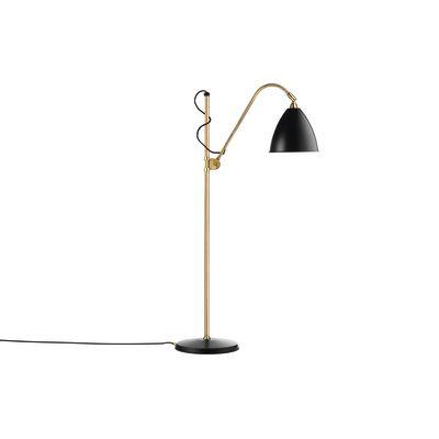 Bestlite BL3M Floor Lamp Charcoal Black and Brass