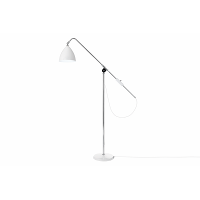 Bestlite BL4 Floor Lamp Matt White and Chrome