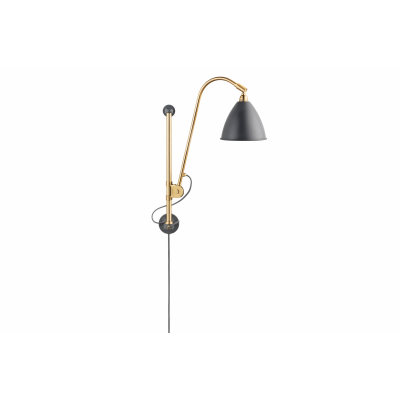 Bestlite BL5 Wall Light Grey / Brass