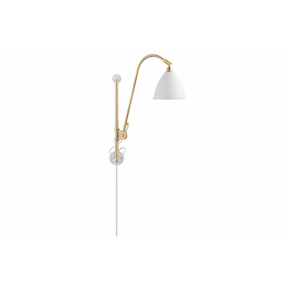 Bestlite BL5 Wired Wall Light Matt White, Solid Brass