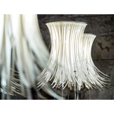 Bety Floor Lamp White, Transparent Cable