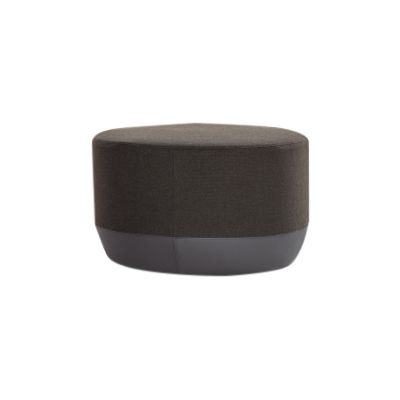 Bikini Island Rounded Base Stool B0023 - Leather Rich, Pigeon Blue