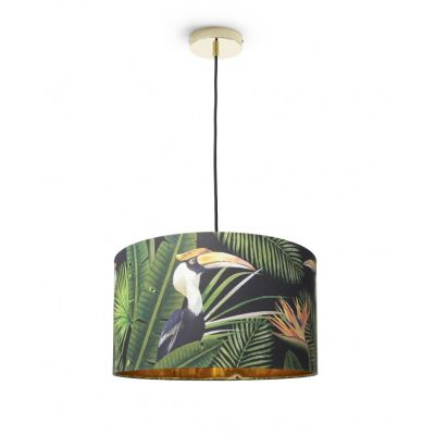Birds of Paradise Drum Pendant Light