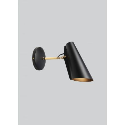 Birdy Short Arm Wall Light Black/Brass