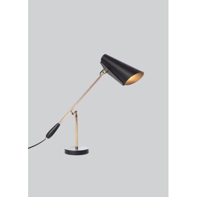 Birdy Table Lamp - Ex display Black/Brass, Type G Plug