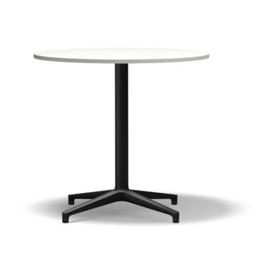 Bistro Round Dining Table, Package of 10 melamine white