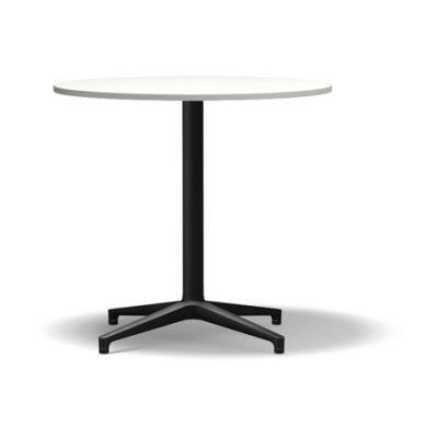 Bistro Round Dining Table melamine white