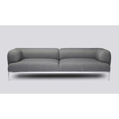Bjørn 3 Seater Sofa Leather Sierra SI1012 White, Chromed Aluminium