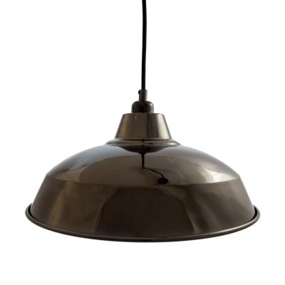 Black Chrome Industrial Lamp Shade Black Chrome Industrial Lamp Shade