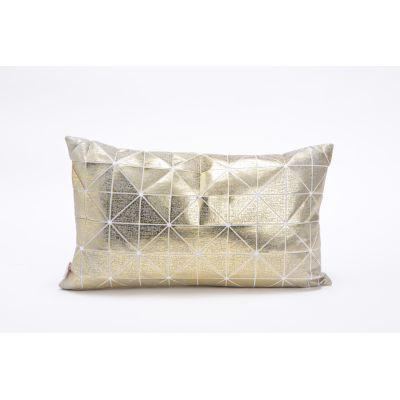 Bling Origami Rectangular Cushion Cover Bling Grey & Gold_s