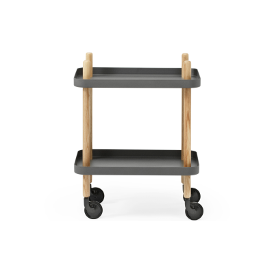Block Side Table Dark Grey