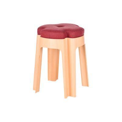 Bloom Upholstered Stool Red
