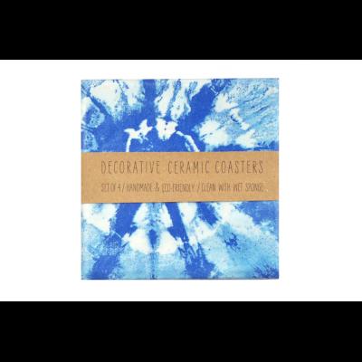 Blue Shibori Coasters