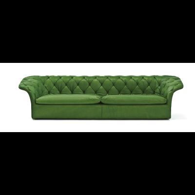 Bohemian 3 Seater Sofa Without Back Cushions B0211   Leather Oil Cirè