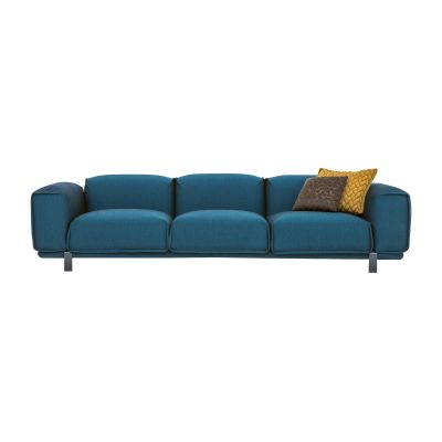 Bold 3 Seater Sofa A7870 - Elastic 2 Pitch Pearl, Mud