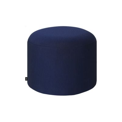 Bon Pouf Round Uniform Melange Ink